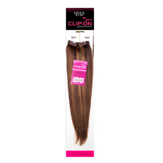 Onyx Remy 7 Piece Clip-In Hair Extensions - 18""
