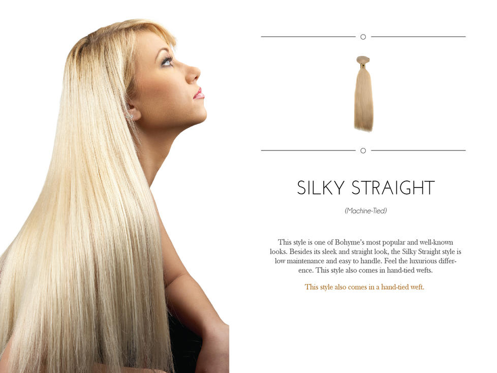 Bohyme 18 Straight Weave Extension Hair In 1822 Mix
